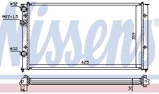 PASSAT РАДИАТОР ОХЛАЖДЕН (NISSENS) (AVA) (см.каталог)
