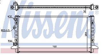 PASSAT РАДИАТОР ОХЛАЖДЕН (NISSENS) (NRF) (GERI) (см.каталог)