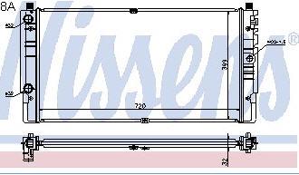 TRANSPORTER РАДИАТОР ОХЛАЖДЕН (NISSENS) (AVA) (см.каталог)