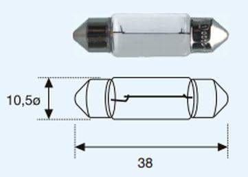 "SV8 {САЛОНА SV8.5 (10 x 37mm)12V-5W} ЛАМПА УПАКОВКА (10 шт) ""BLICK"""