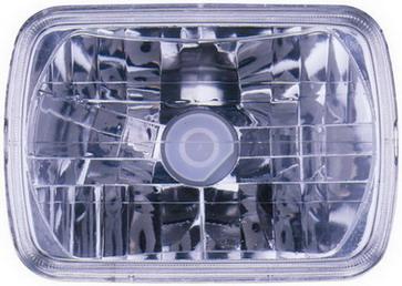 УНИВЕРСАЛЬНЫЕ {ЛАМПА -H4 (200mm x 142mm)} ФАРА Л=П ПРЯМОУГ (DEPO) ХРУСТАЛ